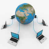 Global computer network. Internet concept. Computer generated image Stock Photo