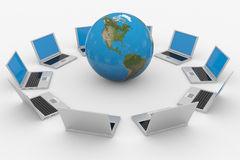 Global computer network. Internet concept. Computer generated image Royalty Free Stock Photo
