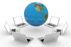Global computer network. Internet concept. Computer generated image Royalty Free Stock Images