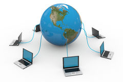 Global computer network. Internet concept. Royalty Free Stock Image