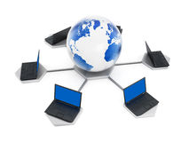 Global computer network. Isolated on white background Royalty Free Stock Photos