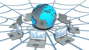 Global computer network. Web.  Stock Images