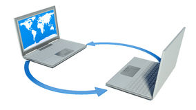 Global computer network. Web Royalty Free Stock Image