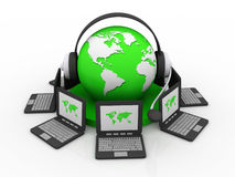 Global computer network Royalty Free Stock Images
