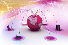 Global computer networking Stock Photos