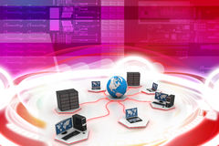 Global computer networking Royalty Free Stock Photography