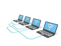 """Global Computer Networking. """"Global Computer Networking"""", can be used in business, personal, charitable and educational design projects: it may be used in Royalty Free Stock Photography"""