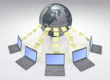 Global Computers Network Stock Photo