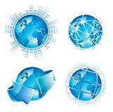 Global concepts. For business, internet and networks. Vector illustration