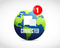 Global connected communication concept message. Royalty Free Stock Images