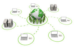 Global connection stock illustration