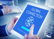 Global Connection Accessible Internet Technology Concept. People Making Global Connection Accessible Internet Technology Royalty Free Stock Image