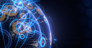 Global connection Concept. IT business. Internet or network. 4k,8k,UHD stock footage