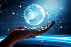 Global connection concept. Future global world connection concept royalty free stock photography