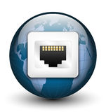 Global connection icon Stock Photos
