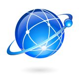 Global connection and navigation technology Stock Images