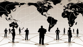 Global connection of the people social business network Stock Images