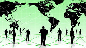 Global connection of the people social business network Stock Photos