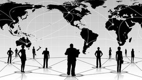 global connection of the people social business network Royalty Free Stock Photos
