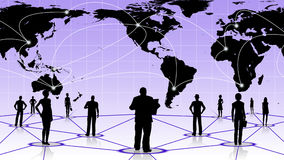 Global connection of the people social business network Stock Image