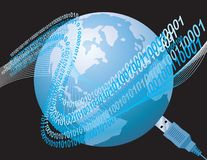 Global Connection World Wide Web Stock Photography