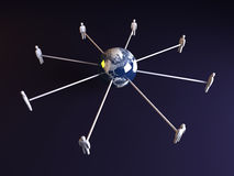 Global connections - America Stock Photos