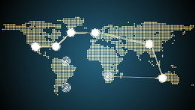 Global connections theme in blue stock footage