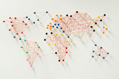 Global connections. Various connections implying a world map Royalty Free Stock Photo