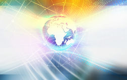 Global Connectivity Background of Digital World Stock Photos