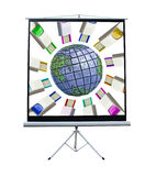 Global connectivity screen Stock Photo