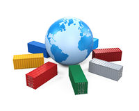 Global Container Transportation Royalty Free Stock Photography