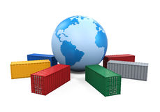 Global Container Transportation Stock Photo
