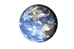 Global cooling on the Planet Earth of solar system isolated. Elements of this image furnished by NASA. stock images