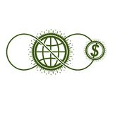 Global Cooperation and Business conceptual logo, unique vector s Royalty Free Stock Photos