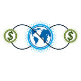 Global Cooperation and Business conceptual logo, unique vector. Global Cooperation and Business conceptual logo, unique vector symbol created with different Royalty Free Stock Images