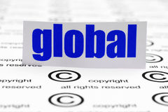 Global copyright Stock Image