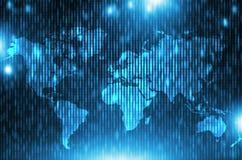 Global Corporate Background. Global Corporate Matrix Background. Blue World Business Backdrop Illustration Stock Image