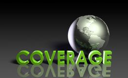 Global Coverage Stock Photo