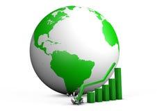 Global crashing graph Stock Image