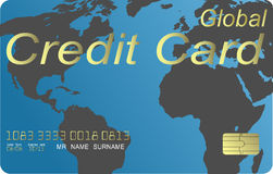 Global credit card vector Stock Image