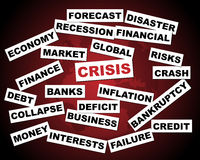 Global crisis. Illustration of a global financial crisis concept.EPS file available Stock Image