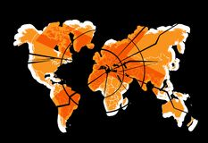 Global crisis Stock Image