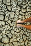Global crisis crack. Drought in danger Stock Photo