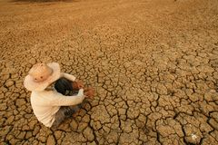 Global crisis crack. Drought in danger Stock Images