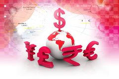 Global Currencies Royalty Free Stock Images