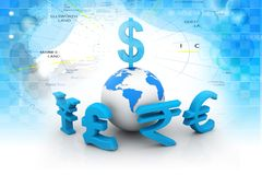 Global Currencies Stock Images
