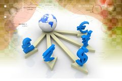 Global Currencies Stock Photography