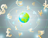 Global Currencies. As a Financial Art Background Stock Photos