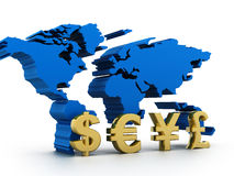 Global Currencies. Business graph  with Global Currencies Stock Image