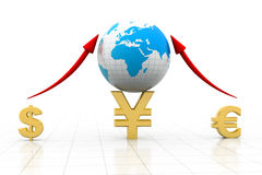 Global Currencies. Business graph  with Global Currencies Royalty Free Stock Image